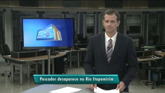 Pescador desaparece no rio Itapemirim após barco virar, no ES