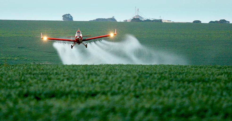 Ministério da Agricultura diz que aumento de agrotóxicos liberados se deve à medidas de 'desburocratização' implementadas pelo governo — Foto: Agência Brasil