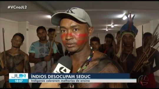 Após reunião, indígenas de três etnias desocupam sede da Seduc em Belém