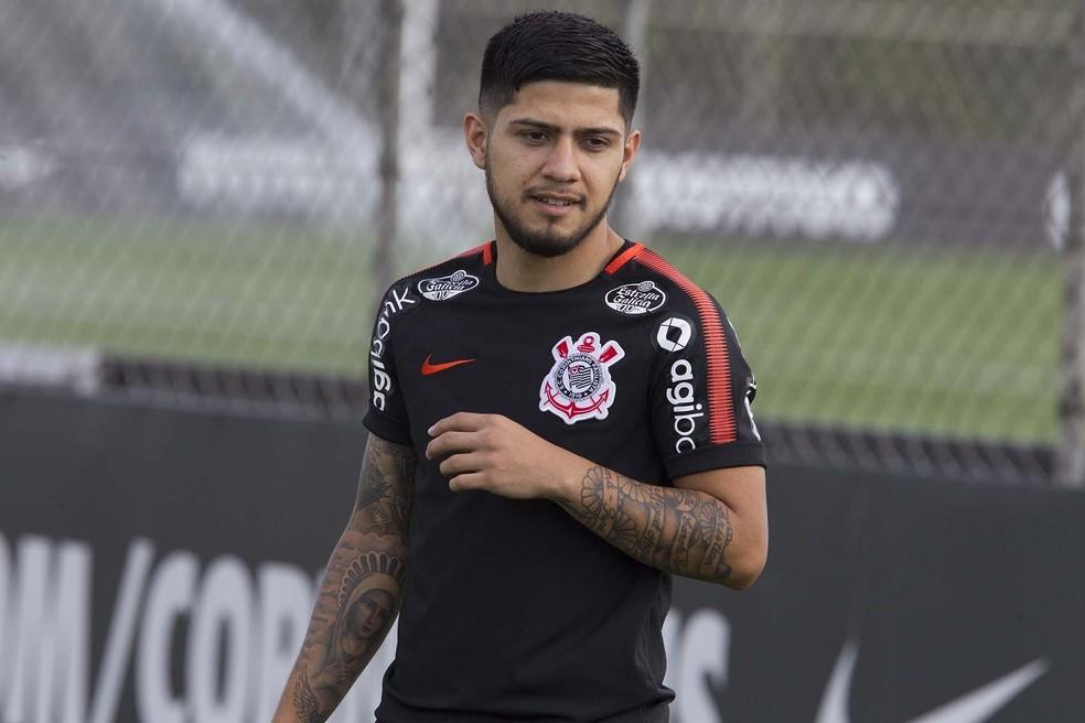Sergio Díaz em treino do Corinthians — Foto: Daniel Augusto Jr/Ag. Corinthians