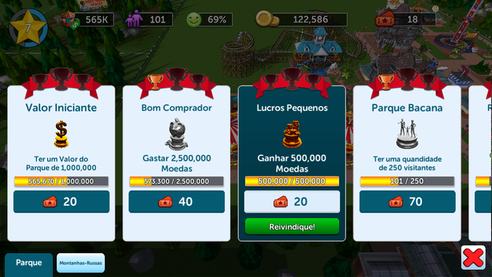 Rollercoaster Tycoon Touch Food Satisfaction