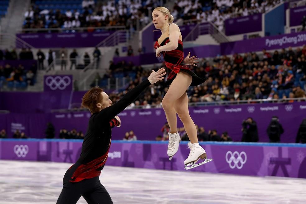 Dupla russa faz apresentação nos Jogos de Inverno (Foto: Ronald Martinez/Getty Images)