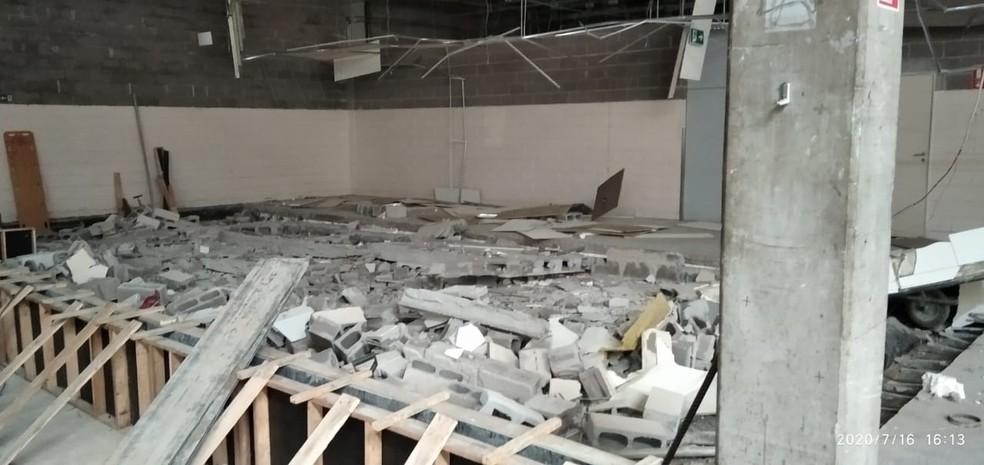 Trabalhadores morreram vítimas de desabamento em obra em hipermercado, em Presidente Prudente — Foto: Polícia Militar