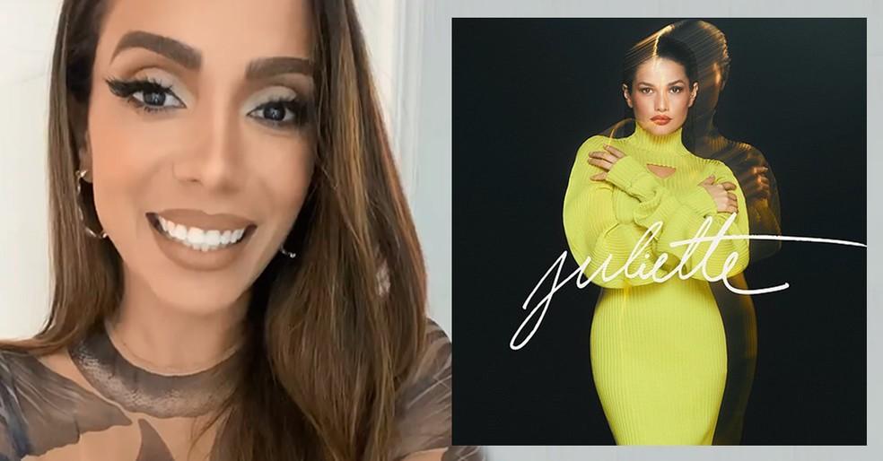 Anitta revela que EP de Juliette começou a ser planejado antes da saída dela do 'BBB21' — Foto: Reprodução do Instagram