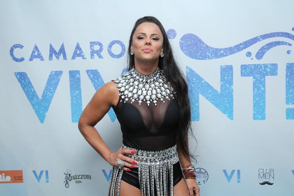 Rainha de bateria do Salgueiro, Viviane Araújo — Foto: Divulgação