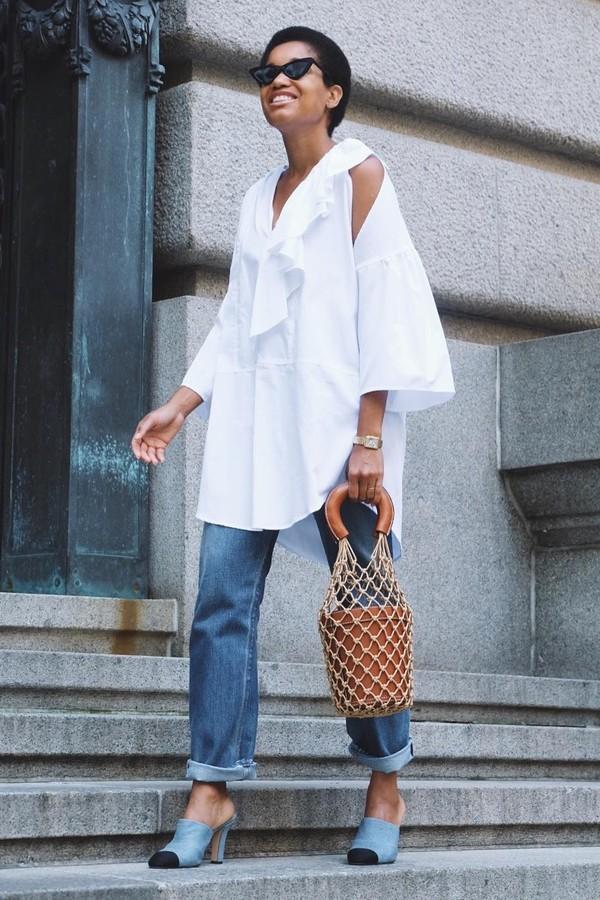 Jeans + camisa versão fashionista (Foto: reprodução/Instagram)
