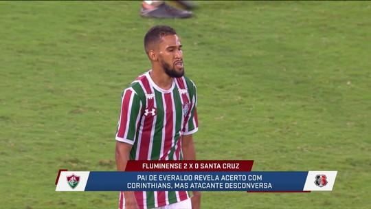 Pai de Everaldo revela acerto com Corinthians, e Gonzalez lembra que volta de Pedro diminui impacto para o Fluminense