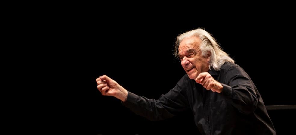 Maestro João Carlos Martins, em Piracicaba — Foto: Rodrigo Alves/OSP
