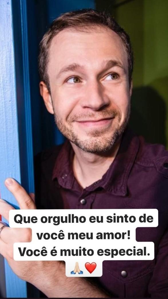 Daiana Garbin presta homenagem ao marido, Tiago Leifert (Foto: Reprodução Instagram)