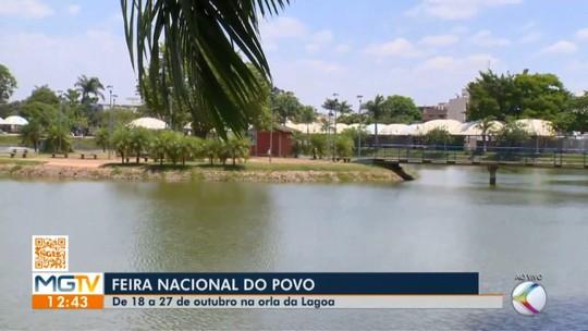 Começa a montagem da estrutura da Feira Nacional do Povo em Patos de Minas