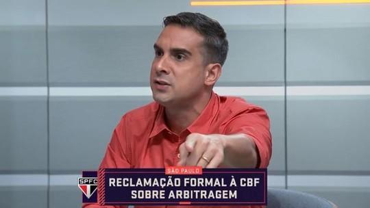 """Gustavo Villani critica dossiê do São Paulo contra arbitragem: """"Isso é jogar para a torcida"""""""