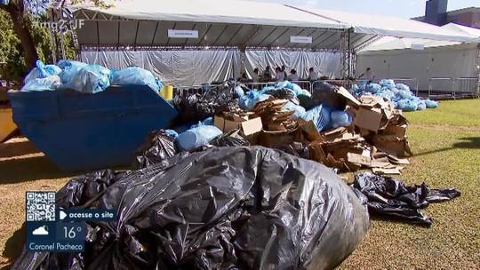 Projeto de reciclagem transforma lixo na Semana do Fazendeiro
