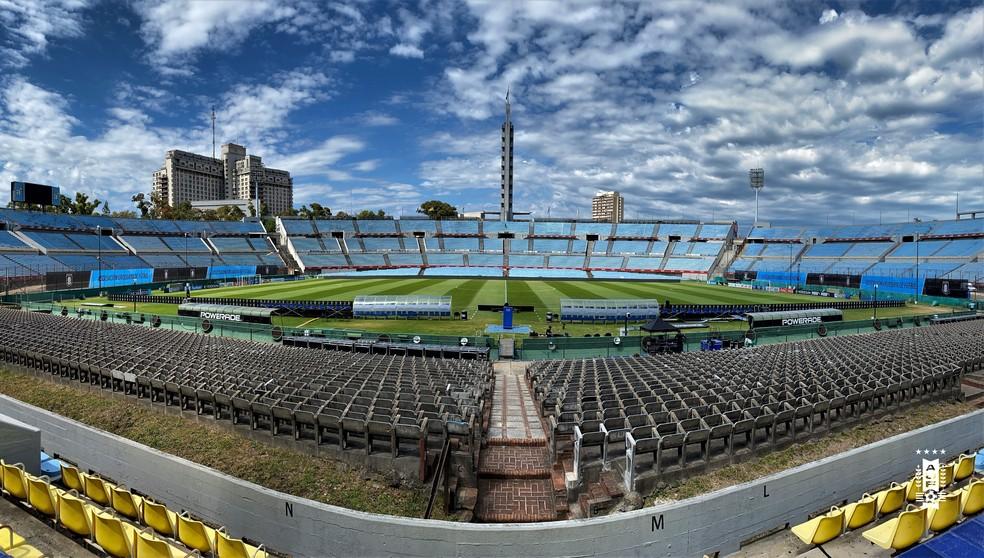 Estádio Centenário, em Montevidéu, receberá final da Libertadores neste ano — Foto: Reprodução/Twitter