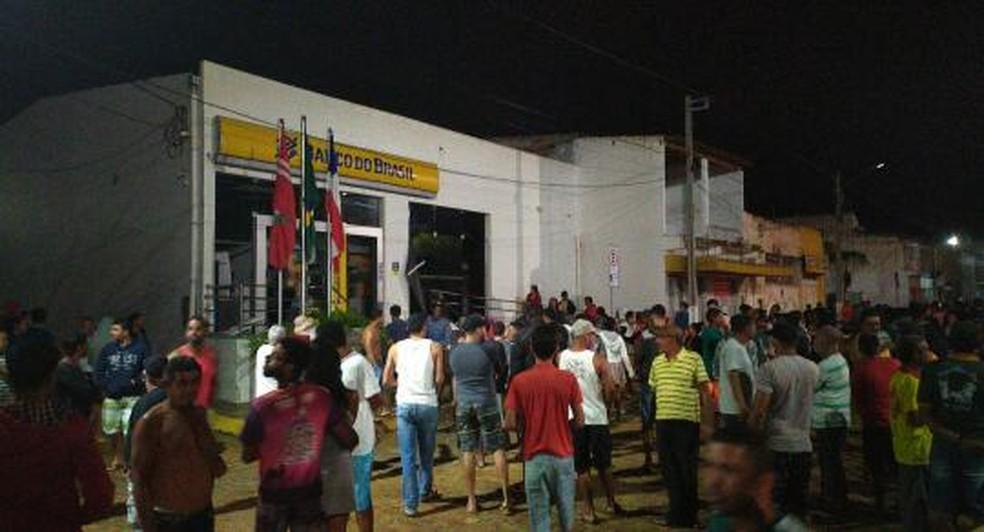 Assalto aconteceu na cidade de Utinga, na Bahia — Foto: Jair Medrado/Arquivo pessoal