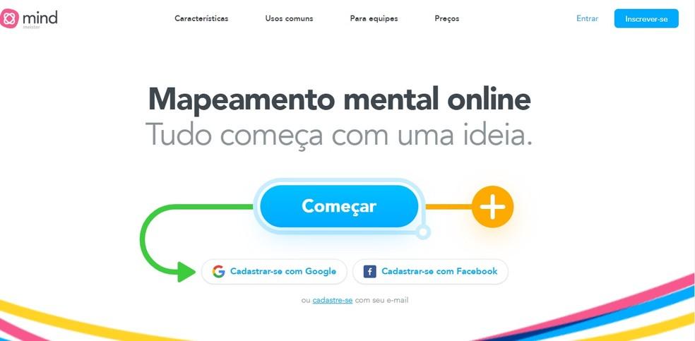 App online ajuda a criar mapas mentais  — Foto: Reprodução/Carol Fernandes