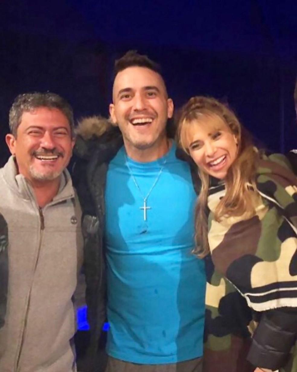 Dany Bananinha compartilhou registro ao lado de Tom Veiga e André Marques — Foto: Reprodução/Instagram