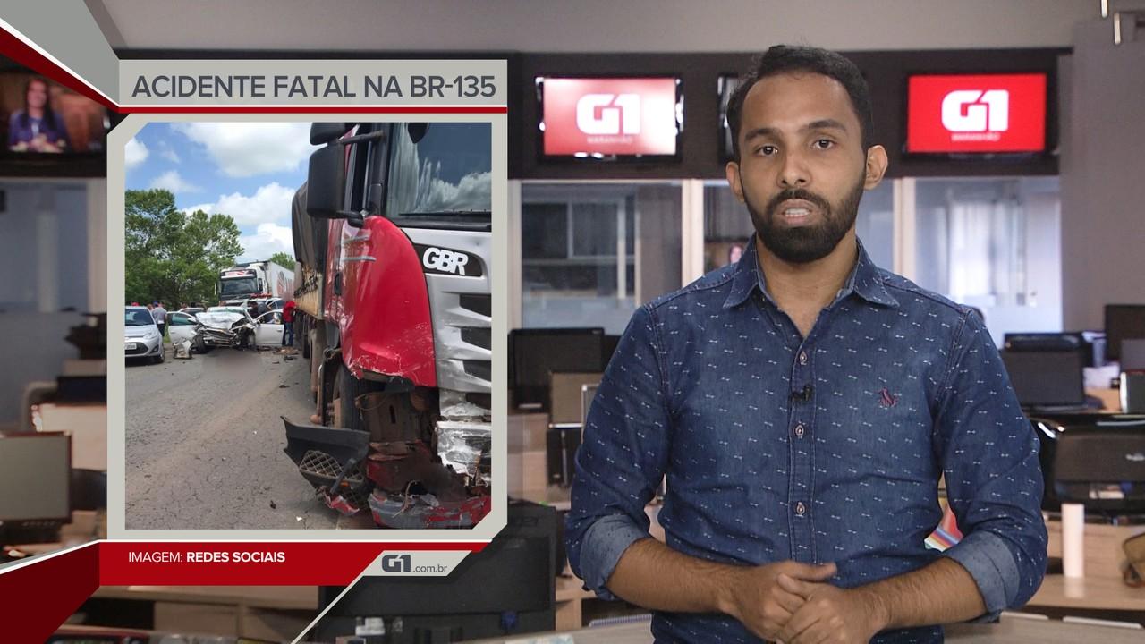 G1 em 1 Minuto: Acidente deixa vários mortos na BR-135, no Maranhão