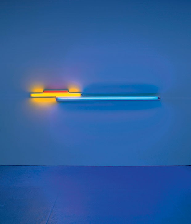 "<em>Untitled (in memory of ""Sandy"" Calder) V</em>, de Dan Flavin (David Zwirner)"