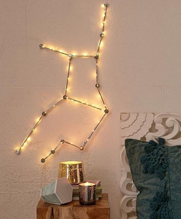 Crie uma luminária a partir do desenho da sua constelação favorita (Foto: Pinterest/ Reprodução)