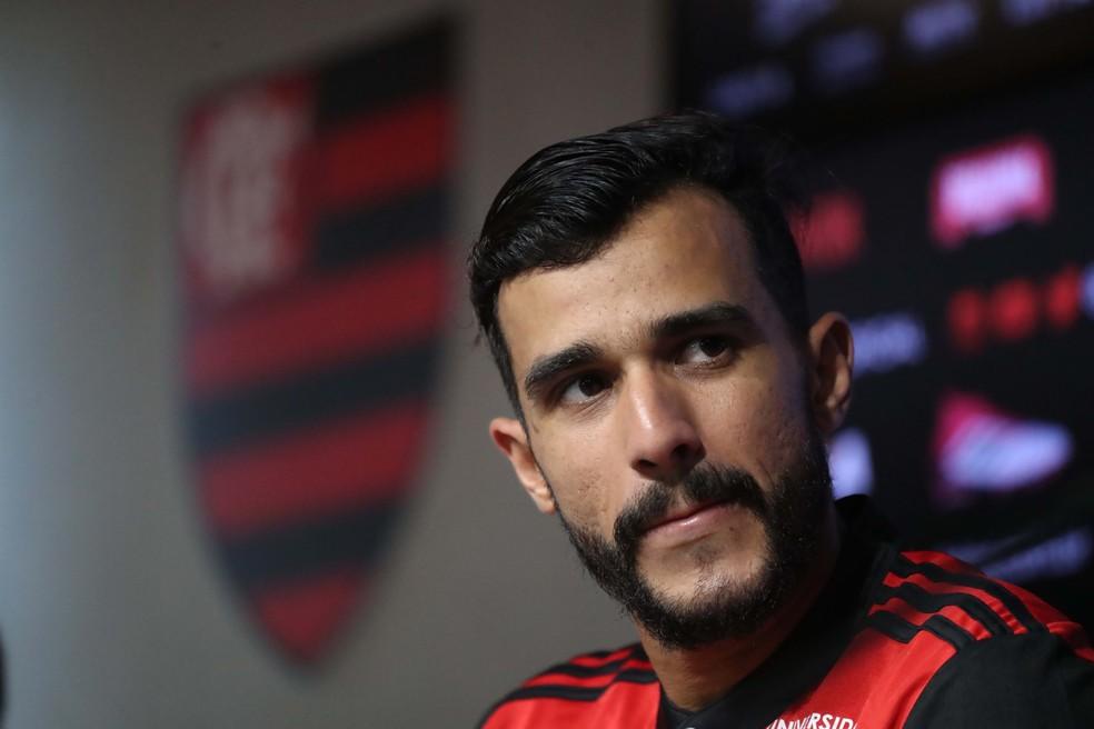 Henrique Dourado em sua apresentação no Flamengo (Foto: Gilvan de Souza)