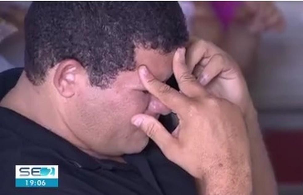 Damião Paixão, pai do jogador — Foto: Reprodução/TV Sergipe