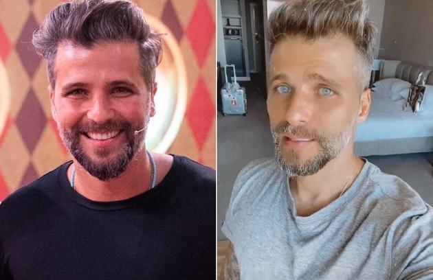 À esquerda, Bruno Gagliasso antes de perder oito quilos. À direita, em foto desta semana, no Uruguai (Foto: Divulgação/TV Globo e Reprodução/Instagram)