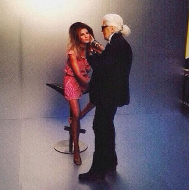 Gisele e Karl Lagerfeld (Foto: Reprodução/ Instagram)