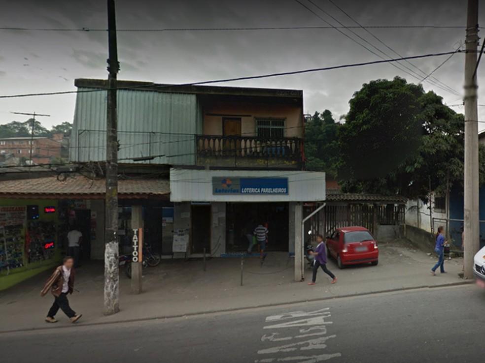 Lotéria em Parelheiros onde 3 apostas vencedoras da Mega Sena foram feitas  (Foto: Reprodução/GoogleMaps)
