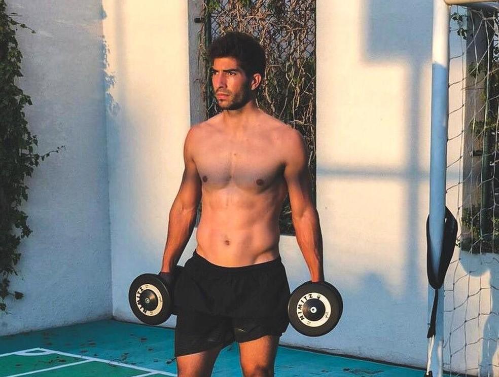 Lucas Silva treina durante quarentena  — Foto: Arquivo Pessoal