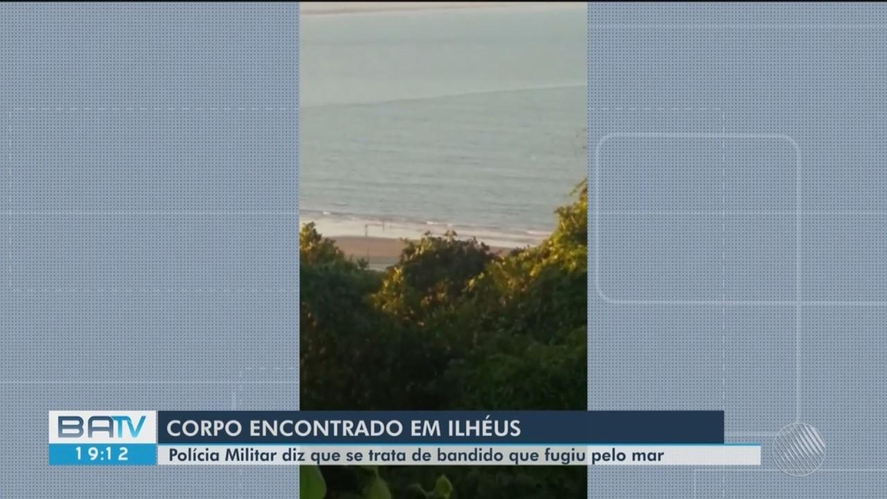 Homem é encontrado morto em praia de Ilhéus, sul da Bahia