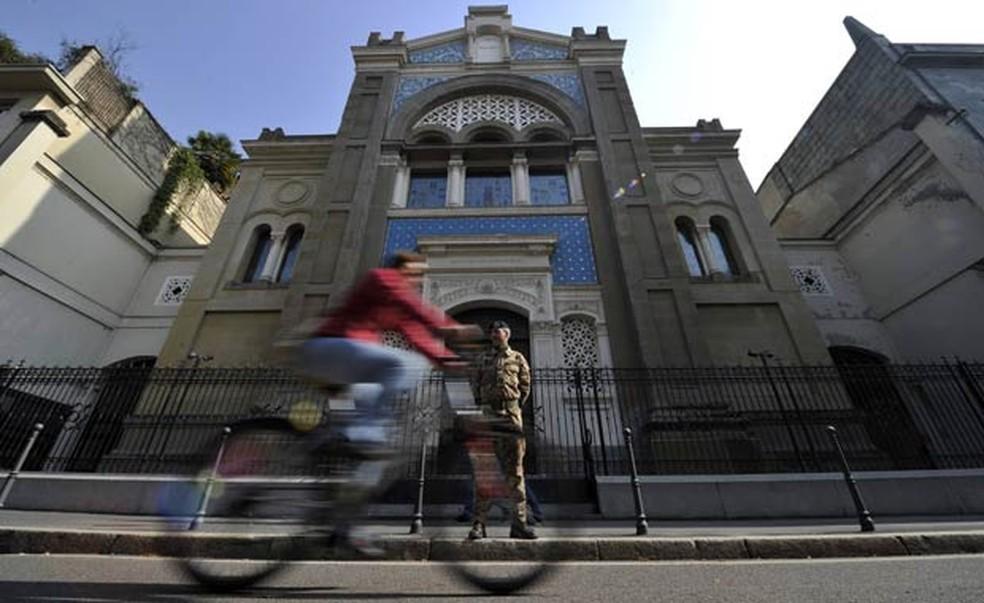 Sinagoga de Milão (Foto: Reuters)