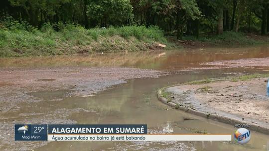 Ribeirão Quilombo transborda e atinge casas de Sumaré após chuva de quinta-feira