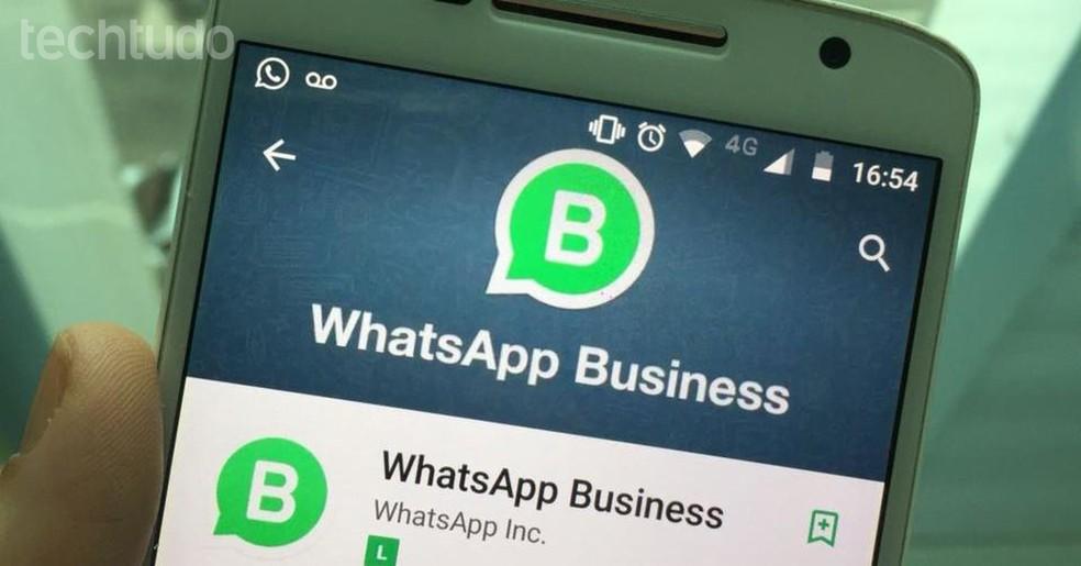 Versão comercial do popular mensageiro, WhatsApp Business está disponível para Android (Foto: Rita Silveira/TechTudo)
