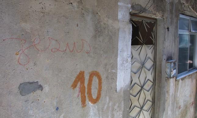 A casa em que o traficante foi preso, em 19 de setembro de 2002