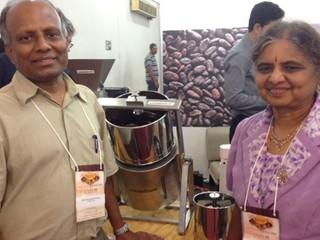 Balu Mannarsamy Balasubramanian e Andal Balu, da Cocoatown (Foto: Priscila Zuini)