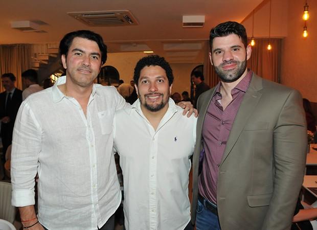 Gustavo Guimarães, Anderson Carvalho e Amir Maluf (Foto: Cassiano de Souza/ Divulgação)