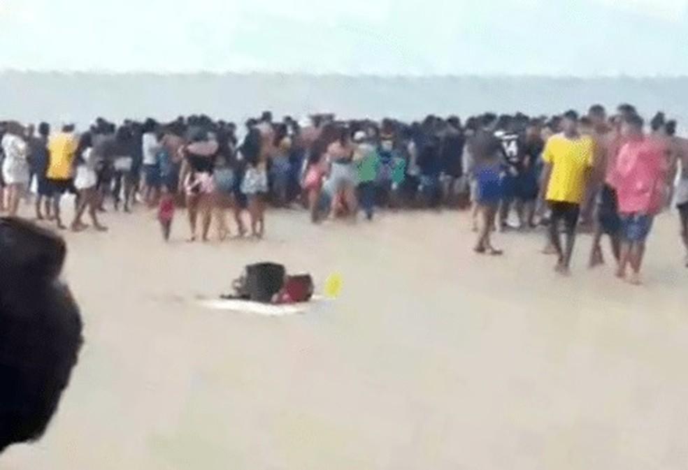 Afogamento foi registrado na praia do Calhau — Foto: Reprodução/Redes Sociais