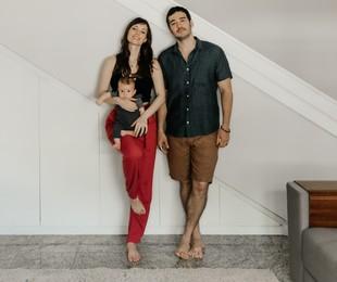 Marcos Veras e Rosanne Mulholland com o filho Davi | Babuska Fotografia