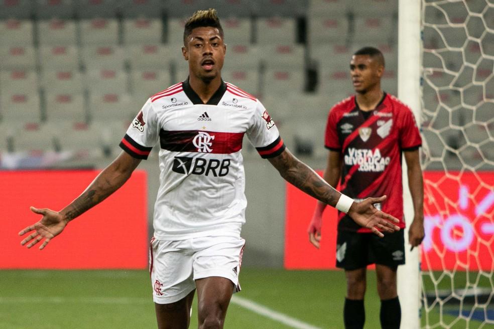 Bruno Henrique fez o gol da vitória — Foto: VINICIUS DO PRADO/AGÊNCIA F8/ESTADÃO CONTEÚDO