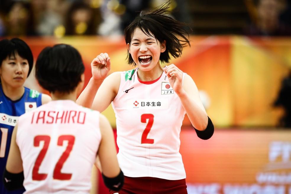 Japão bateu a Sérvia no Mundial — Foto: Divulgação