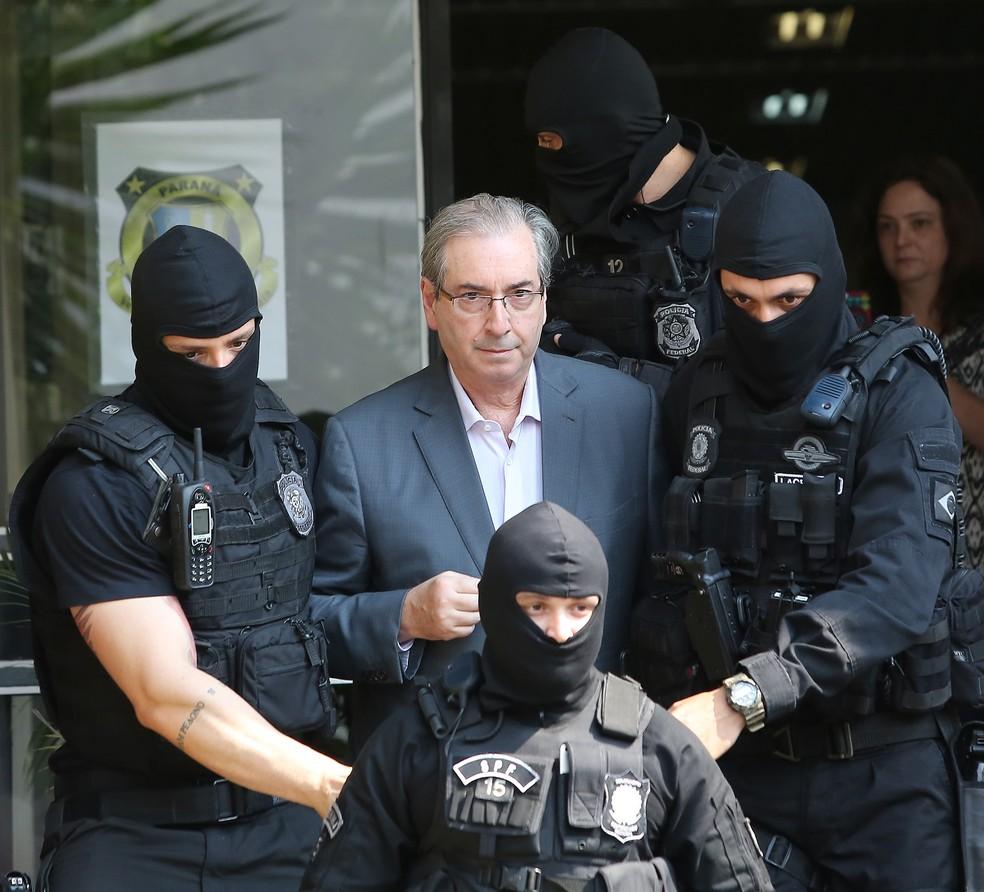 Eduardo Cunha está preso no Paraná, pela Operação Lava Jato (Foto: Giuliano Gomes/ PR PRESS)