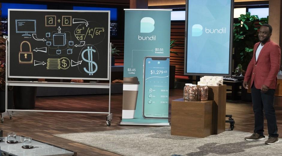 Dmitri Love apresenta sua startup, a Bundil, para os tubarões do Shark Tank norte-americano (Foto: Reprodução)