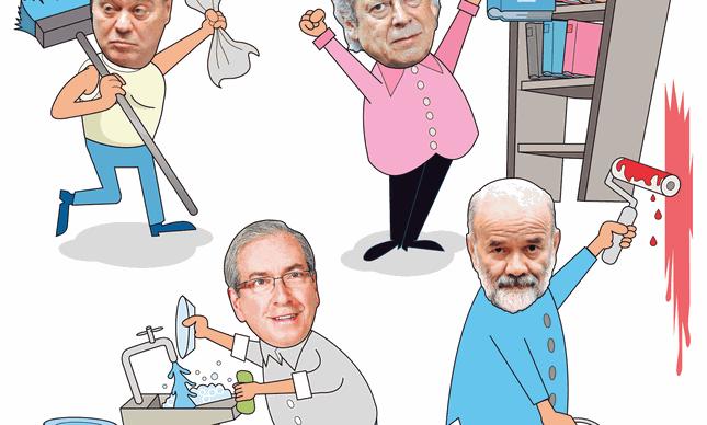 Resultado de imagem para Lava-Jato: presos faxinam e entregam marmitas para reduzir penas