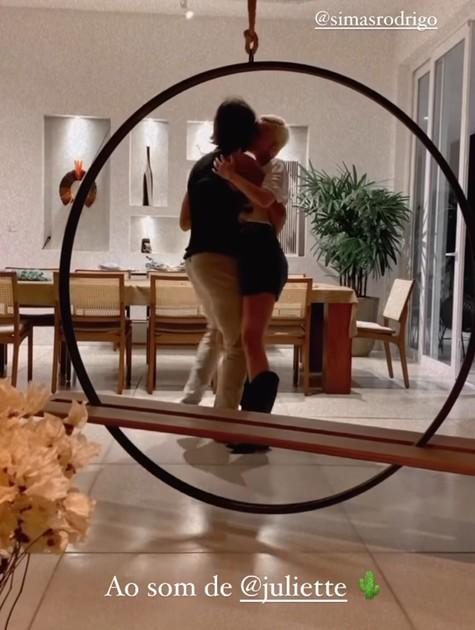 Rodrigo Simas e Agatha Moreira dançam canção de Juliette (Foto: Reprodução Instagram)