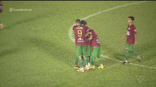 Emocionado, Rodriguinho comemora gol decisivo no retorno à Portuguesa Santista