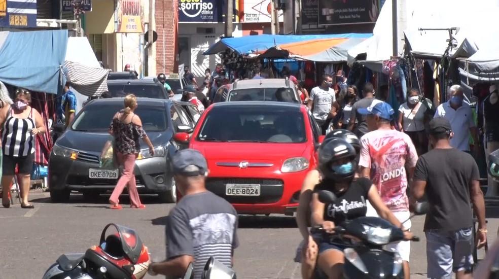 A movimentação nas feiras é registrada desde a semana passada — Foto: TV Clube