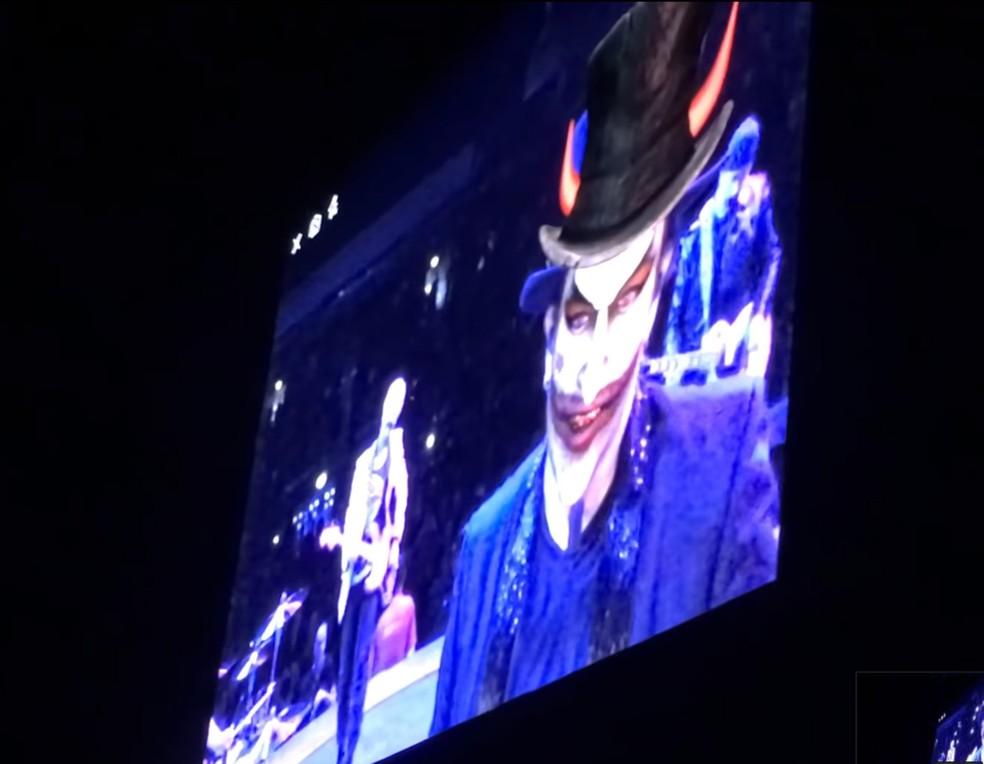 Personagem da banda U2, MacPhisto — Foto: Reprodução/Youtube