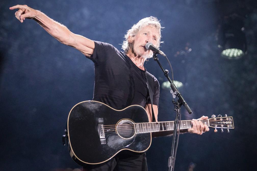 """Roger Waters, baixista e um dos fundadores do Pink Floyd, se apresenta na turnê solo """"Us + Them"""" no Allianz Parque, na Barra Funda, Zona Oeste de São Paulo. É o primeiro show da turnê no Brasil — Foto: Fábio Tito/G1"""