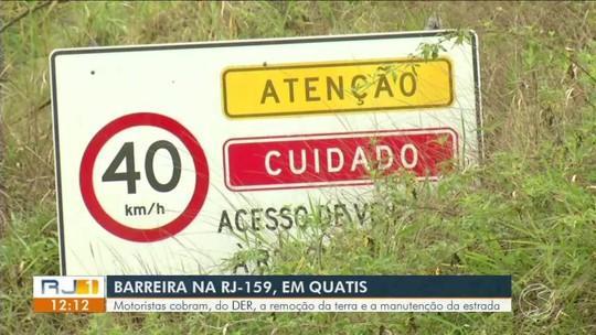 Moradores reclamam das más condições de barreira em Quatis