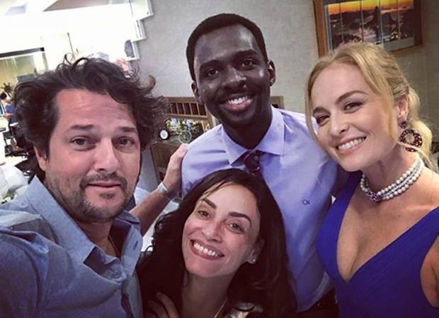 Marcelo Serrado, Izak Dahora, Suzana Pires e Angélica (Foto: Reprodução/Instagram)